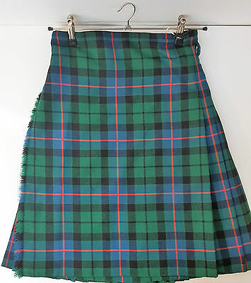 "Ex Hire 34"" waist 25""drop Morrison Ancient 8 Yard Wool Kilt A1 Condition"