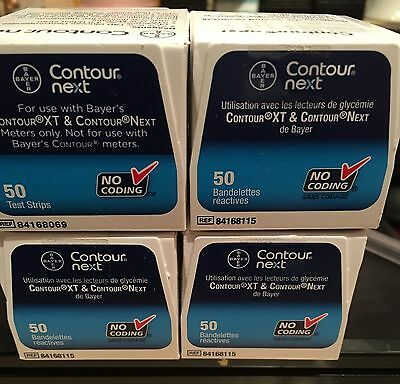 Bayer Contour Next Blood Glucose Strips  4 Boxes Of 50 In Each Box