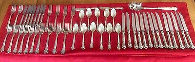 51 Pieces Of Gotham Chantilly Flatware Sterling/Stainless