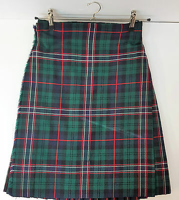 "Ex Hire 32"" waist 25""drop Scottish National 8 Yard Wool Kilt A1 Condition"