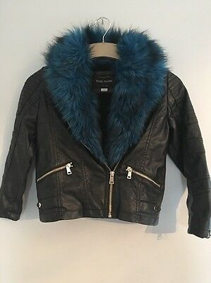 Girls River Island Faux Let her Jacket Age 7
