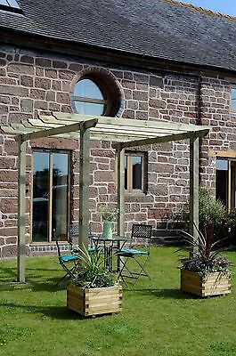 New Traditional Pergola Garden Arch Treated Wooden Garden Feature Arbour Decking