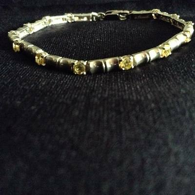Haunted Wicca .925 Sterling Silver Vintage Bracelet W/beautiful Stones ~Stunning