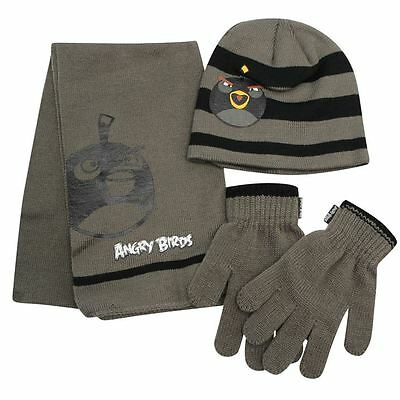 Angry Birds:2014 Winter Set,hat,scarf,mitts,6-8Yr Approx, New With Tags