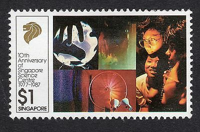 1987 Singapore $1 Physical sciences exhibits SG 567 FINE Used R17520