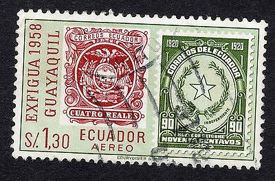 1958 Ecuador 1.30s AIR National stamp exn SG 1117 GOOD USED R18094