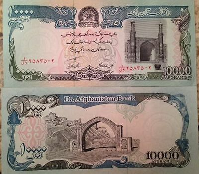 Afghanistan 1993 10,000 Afghanis Unc Note P-63 From A Usa Seller Large Size Rare