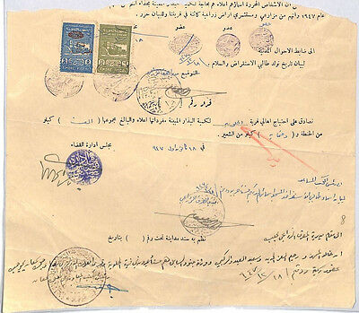 HL466 SYRIA REVENUES Large Part Document with Postal Fiscals
