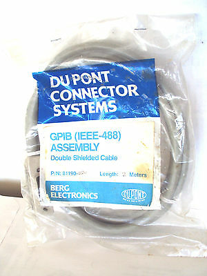 Du Pont ,Two Meter Length IEEE-488 GPIB Double Shielded Connector Systems