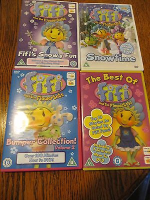 Bundle of 4 Fifi and the Flowertots DVDs