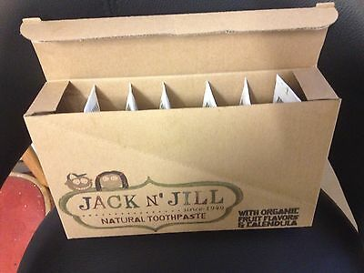 Jack N Jill Natural Safe Childrens Toothpaste Calendula & Organic X6 £9.99 Only