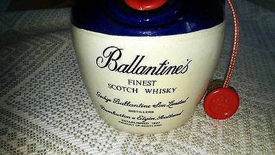 RARE GENUINE BALLANTINE'S FINEST SCOTCH WHISKY EMPTY JUG Two Stoppers