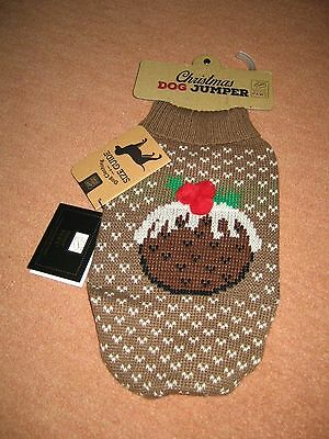 """NEW DOG CHRISTMAS JUMPER SIZE MALL 12""""  House of Paws Funny Christmas Jumper"""