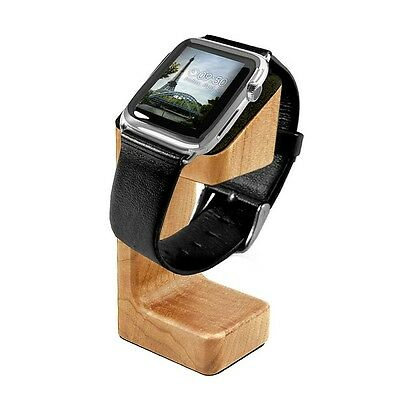 Tuff-Luv Moulded Wood Charging Stand for Apple Watch 1 / 2 - Brown (Oak Effect)