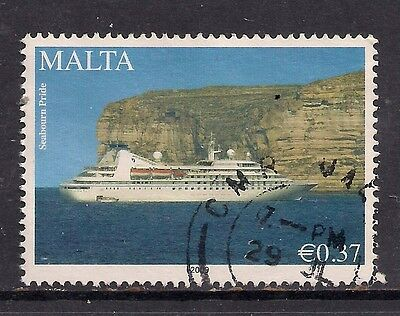 MALTA 2009 37c. Visiting ship in Grand Harbour used stamp ( C35 )