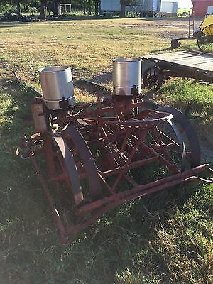 2 row planter with vegetable seed plates, McCormick Deering