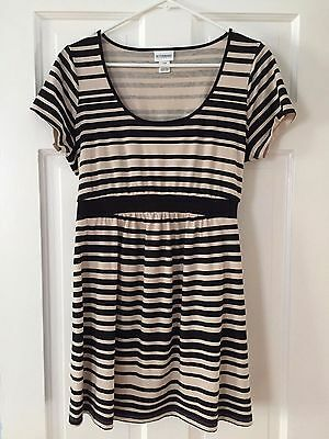 Cute Motherhood Maternity Cotton Striped Top or Dress Medium M
