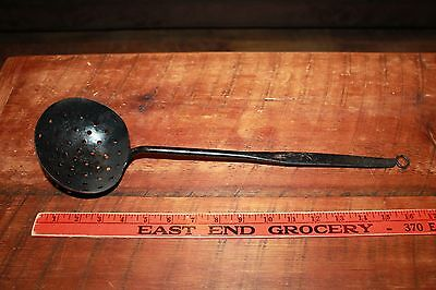 Antique Ladle Rat Tail Hand Forged,primitive Hearth,fireplace