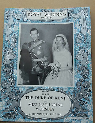 HRH The Duke of Kent-Wedding Pictorial Souvenir Book 1961