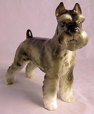 "Shafford Large 7 1/4"" Male Schnauzer ""SNATTY"" The Kennel Club Dog Figurine"
