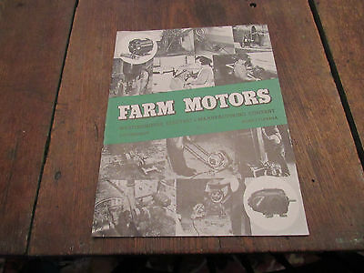 1940's Westinghouse Electric Farm Motors Brochure Pittsburgh Agriculture Power