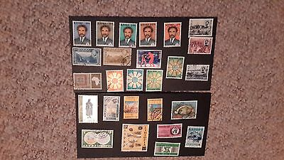 26 Ethiopia Used Stamps Good Used Condition