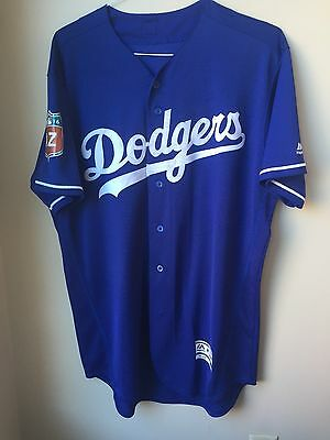 Los Angeles Dodgers Authentic team issued Majestic Spring Training Blue Jersey