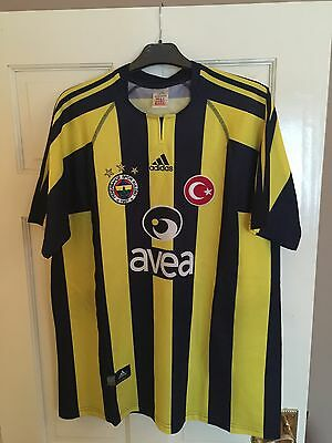 Rare Vintage Classic Fenerbahce Adidas L Home Jersey 2004-05