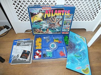 Waddingtons Escape From Atlantis Vintage Board Game 1986 Complete Retro Toy