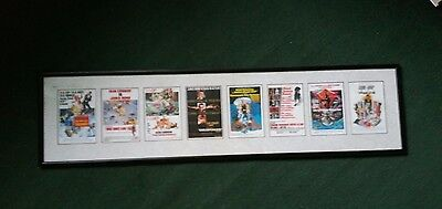 Framed James Bond Movies Promotional Postcards Picture