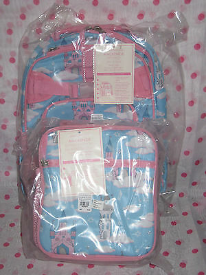 NEW Pottery Barn Kids SMALL Holiday Castle Backpack + Classic Lunch Bag! Last!