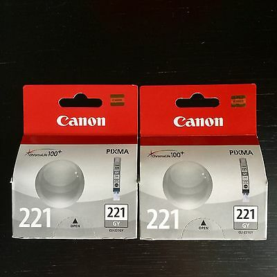 Canon 221 Genuine Ink (Gray) 2 Packs!