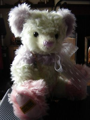 """Over the rainbow 16"""" bear by Merrythought for Compton and Woodhouse. Musical"""