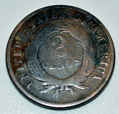 America 1870 Two Cent Coin