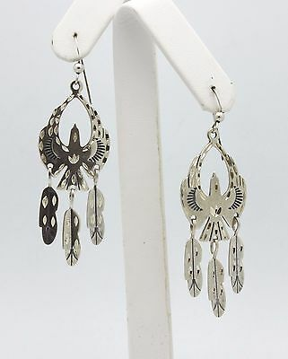 Carolyn Pollack Eagle & Feather Sterling Silver Dangle Earrings