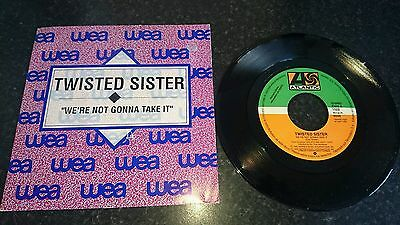 """TWISTED SISTER We're Not Gonna Take It Spanish promo 7"""" Single"""