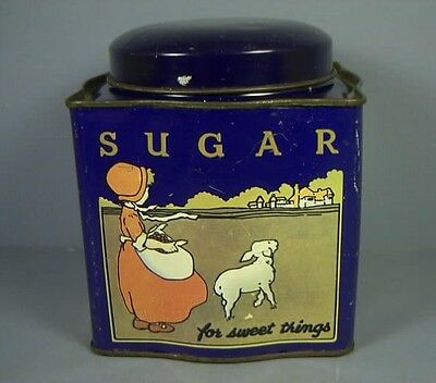 Sugar Tin, Dodo Canister, Made in England, Vintage