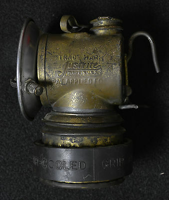 JustRite Carbide Miner Lamps Working Flint and Drip Mechanism Air-Cooled Grip 8