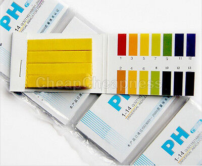 160x pH Indicator Test Strips 1-14 Laboratory Paper Litmus Tester Urine Saliva Y