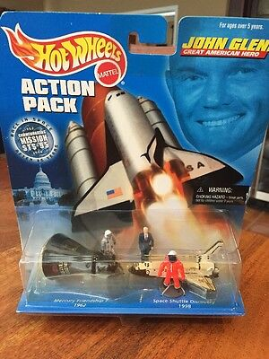 Hot Wheels Action Pack  John Glenn  Mission Sts - 95  Discovery - Mercury (Kc)