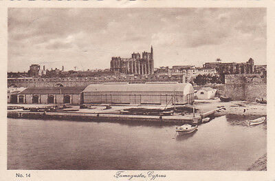 Cyprus Postcard Glaszner Famagusta Panorama Of Harbour No 14