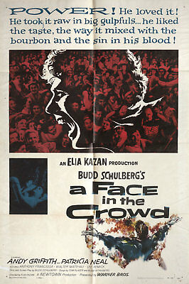A Face in the Crowd 1957 U.S. One Sheet Poster