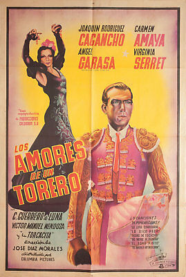 The Loves of a Bullfighter 1946 Argentine Poster