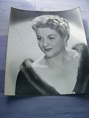 Large Vintage ANNE SHELTON Singer Hand Signed Dedicated Autograph Photo 12x14