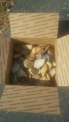 Tennessee flint heated flakes and spalls arrowhead knapping cabbing