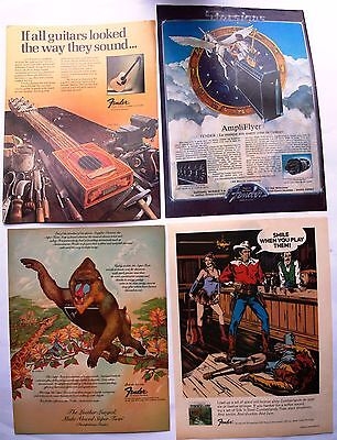 Fender Guitars & Amps  Clipping / Cutting  /  Miniposter  Vintage Magazine Pages
