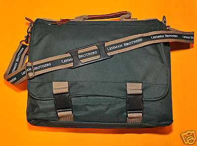 Lehman Brothers ~ Canvas Brief Case ~ Water Resistant ~ Limited Supply!!!