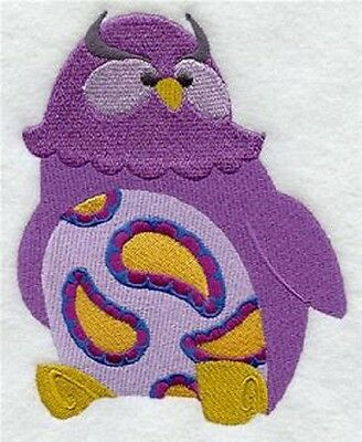 Clearance - Embroidered Quilt Block - Paisley Owl