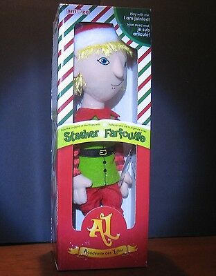 """New Boy Stasher  Plush jointed elf doll by Amuze 14""""  inch Blonde hair"""