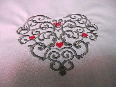 Clearance - Embroidered Quilt Block -  Ironworks Heart